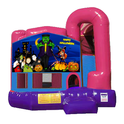 Happy Halloween Dream Backyard 4n1 Combo Bounce House