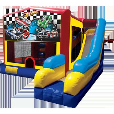 Hot Wheels Modular 7n1 Combo Bounce House | Inflatable Rental