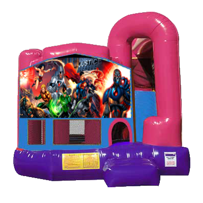Justice League Dream Backyard 4n1 Combo Bounce House