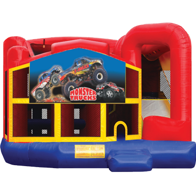 Monster Truck Modular 5n1 Combo Bounce House