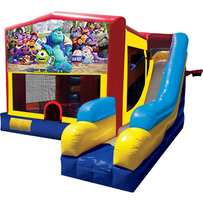 Monsters Inc. Modular 7n1 Combo Bounce House
