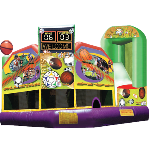 Sports 5n1 Combo Bounce House
