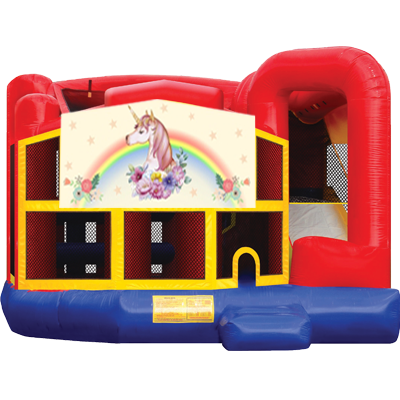 Unicorn Modular 5n1 Combo Bounce House