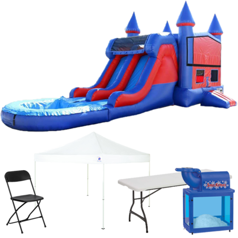 Wet/Dry Combo Bouncer Backyard Ultimate Party Package