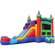 14ft Dual Lane Castle Water Slide Combo