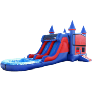 15ft Dual Lane Castle Water Slide Combo