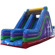 17ft Dual Lane Dry Slide