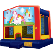 Unicorn Party Modular Bounce House