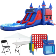 Wet/Dry Combo Bouncer Backyard Premium Party Package