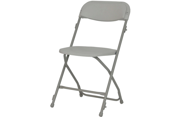Chair - White Folding Adult Size