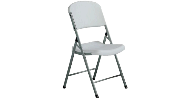 Chair - White Folding Kid Size