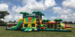53' Tropical Combo Obstacle Course - Dry