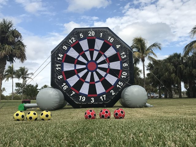2-Sided Giant Velcro Soccer Darts & Baseball