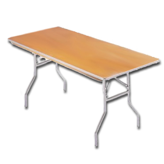 Premium Solid Wood Banquet Table