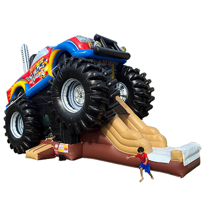 monster truck theme inflatable rental