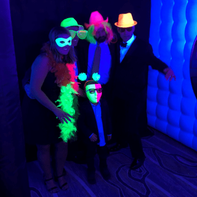 glow party photo booth rentals
