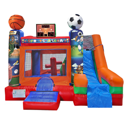 6 in 1 sports combo bounce house rental