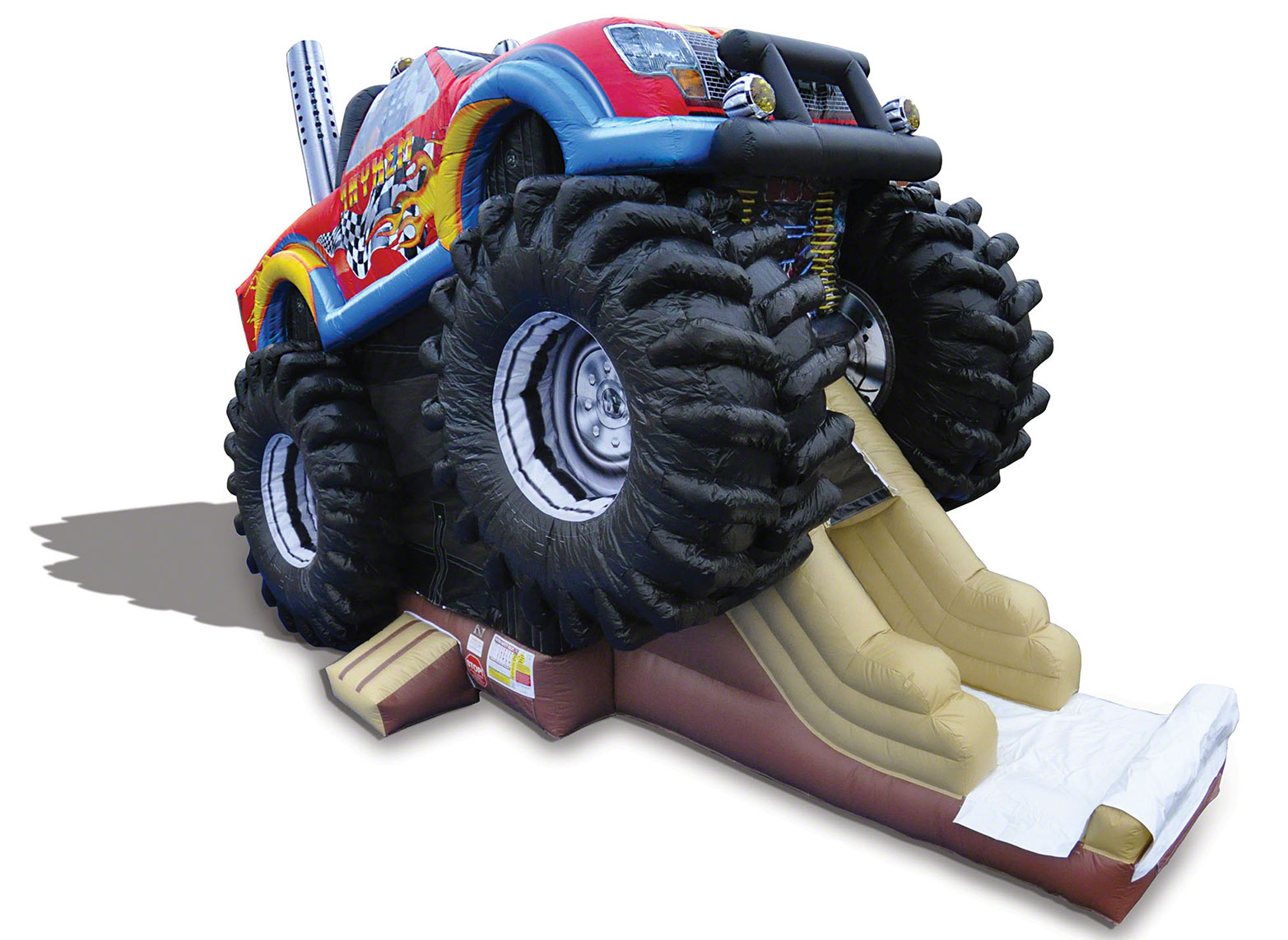 slide down our new monster truck inflatable!