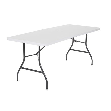 6 foot folding table white