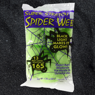 Green Glow Webs 10 pieces