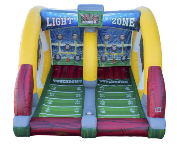Light Zone Football Toss