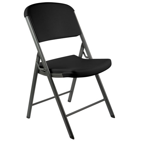 Plastic Black Folding Chair