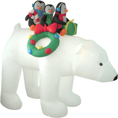 Polar Bear 8ft Inflatable indoor or outdoor