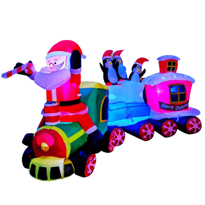 Santa Train Inflatable indoor or outdoor