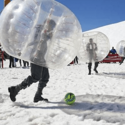 Winter Bubble Soccer Party Package