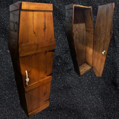 Life Size Wood Coffin