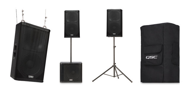 1500 watt Speaker Pair with Tripods
