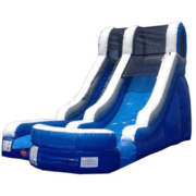 15ft Blue Wave Single Lane Water Slide with Splash pad