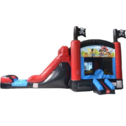 5 in 1 Pirate Bounce and Water Slide Combo with Splash pad