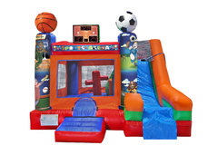 6 in 1 Sports Bounce and Slide Combo Dry