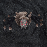 Giant 7ft Wolf Spider Red Glow LED