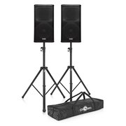 2000 watt Speaker Pair with Tripods