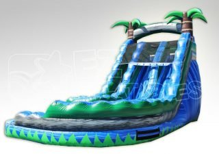 18ft Dual Lane Paradise Curve Dry Slide
