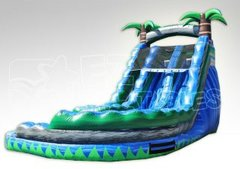 18ft Dual Lane Paradise Curve Wet-Dry Slide
