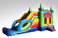 15ft. Dual Lane King Multi Color Wet Castle