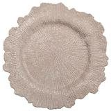 "13"" Round Blush Reef Charger (Plastic)"