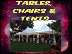 Tables, Chairs, and Tents