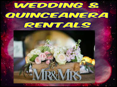 Wedding and Quinceanera Equipment Rentals
