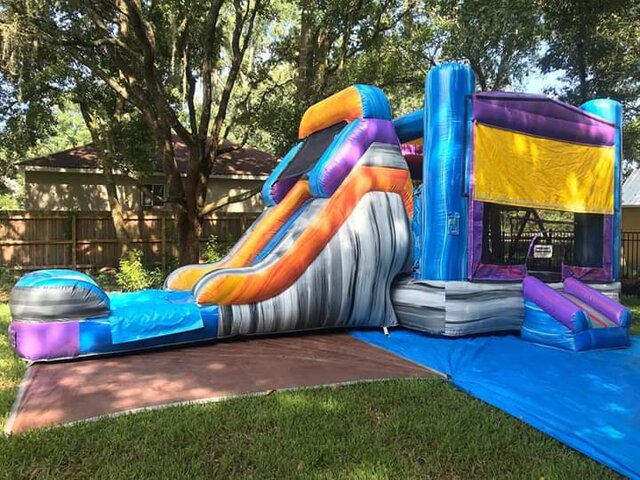Mega Mansion bonce house with slide rental Burleson, Texas