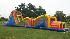 83ft. Extreme Rush Inflatable Obstacle Course Rental