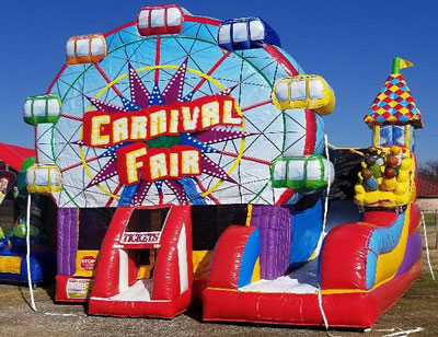 Carnival Bounce House Combo Kennedale Texas
