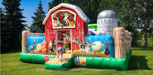 Farmyard Toddler Bounce House rental Arlington, Texas