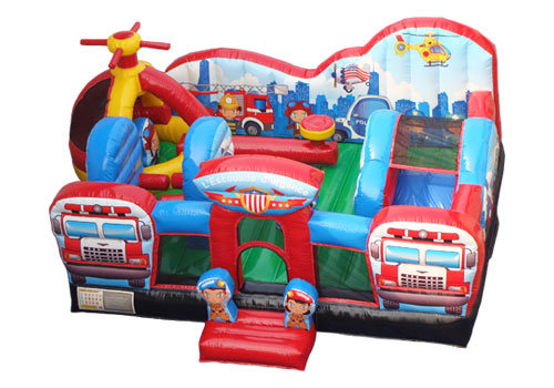Rescue Heroes Toddler Bounce House Combo inside view