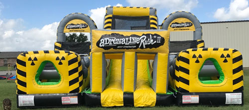 Toxic Adrenaline Rush Inflatable Obstacle Course Rental