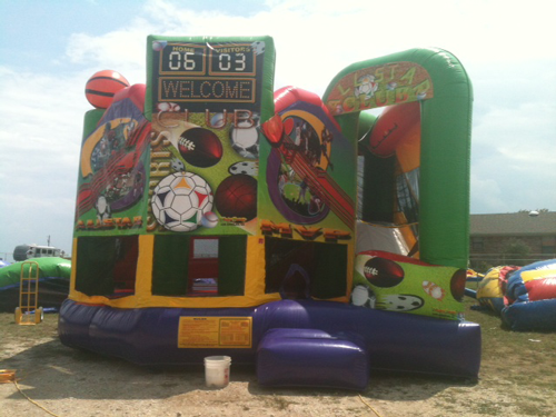All Sports Bounce House Combo with Waterslide from Inflatable Party Magic LLC Cleburne, Tx