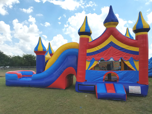 Big Top 4n1 Wet Combo Bounce House Rental by nflatable Party Magic Cleburne, Tx